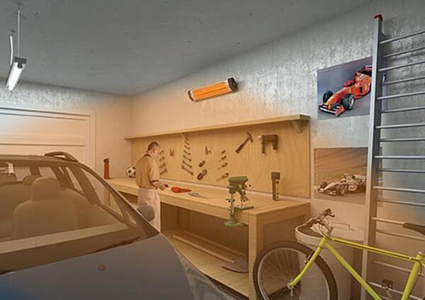 Прогреть машину и гараж поможет длинноволновое излучение инфракрасного обогревателя